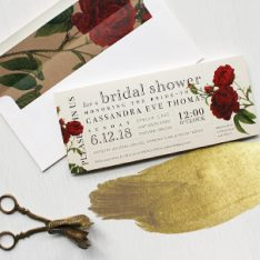 New for 2016 | Vintage Garden Bridal Shower Invites