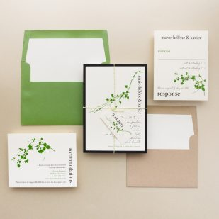 Modern Garden Wedding Invitations