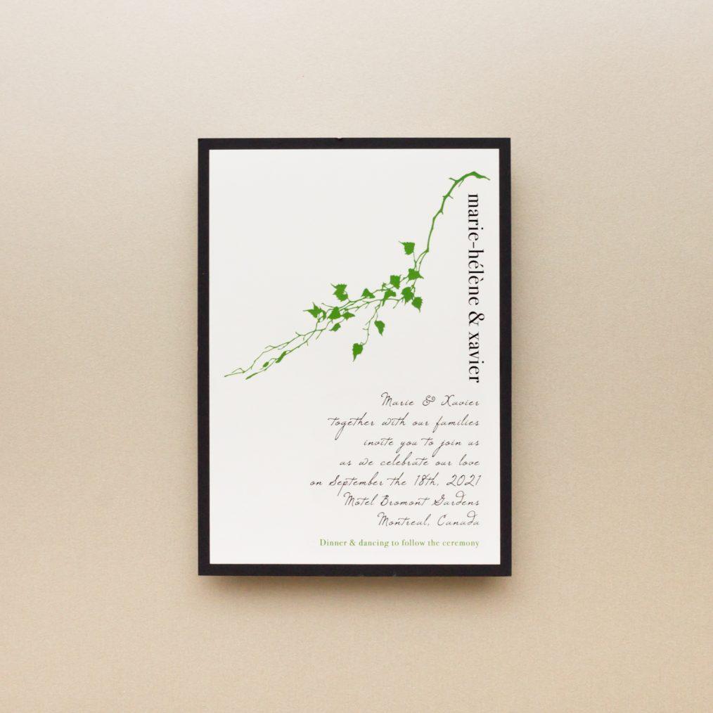 Greenery Wedding Invitation Main Card
