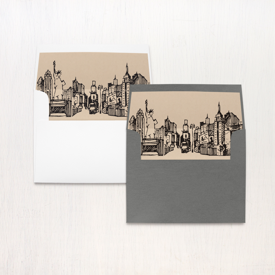 City Skyline Thank You Cards