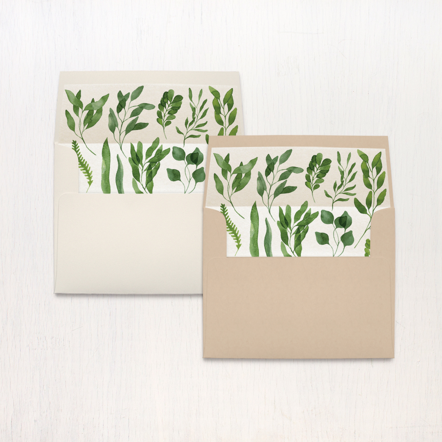 Eucalyptus Green Thank You Cards
