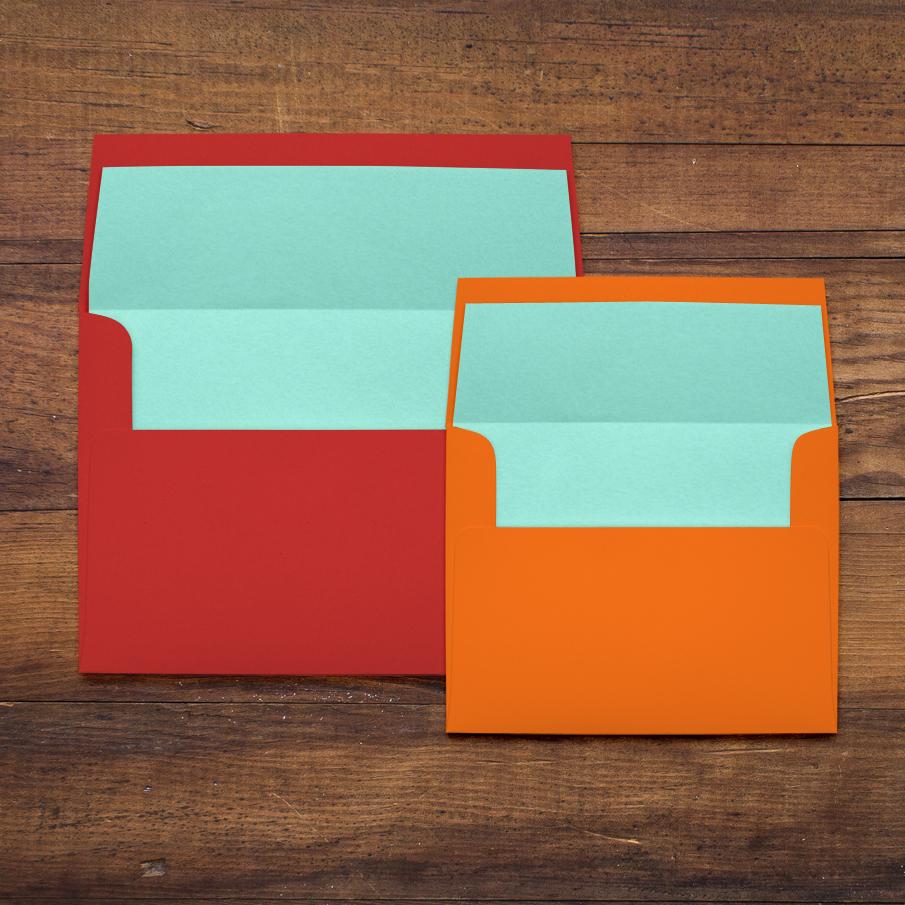 Henna Love Customizable Orange & Blue Wedding Invitations | Beacon Lane