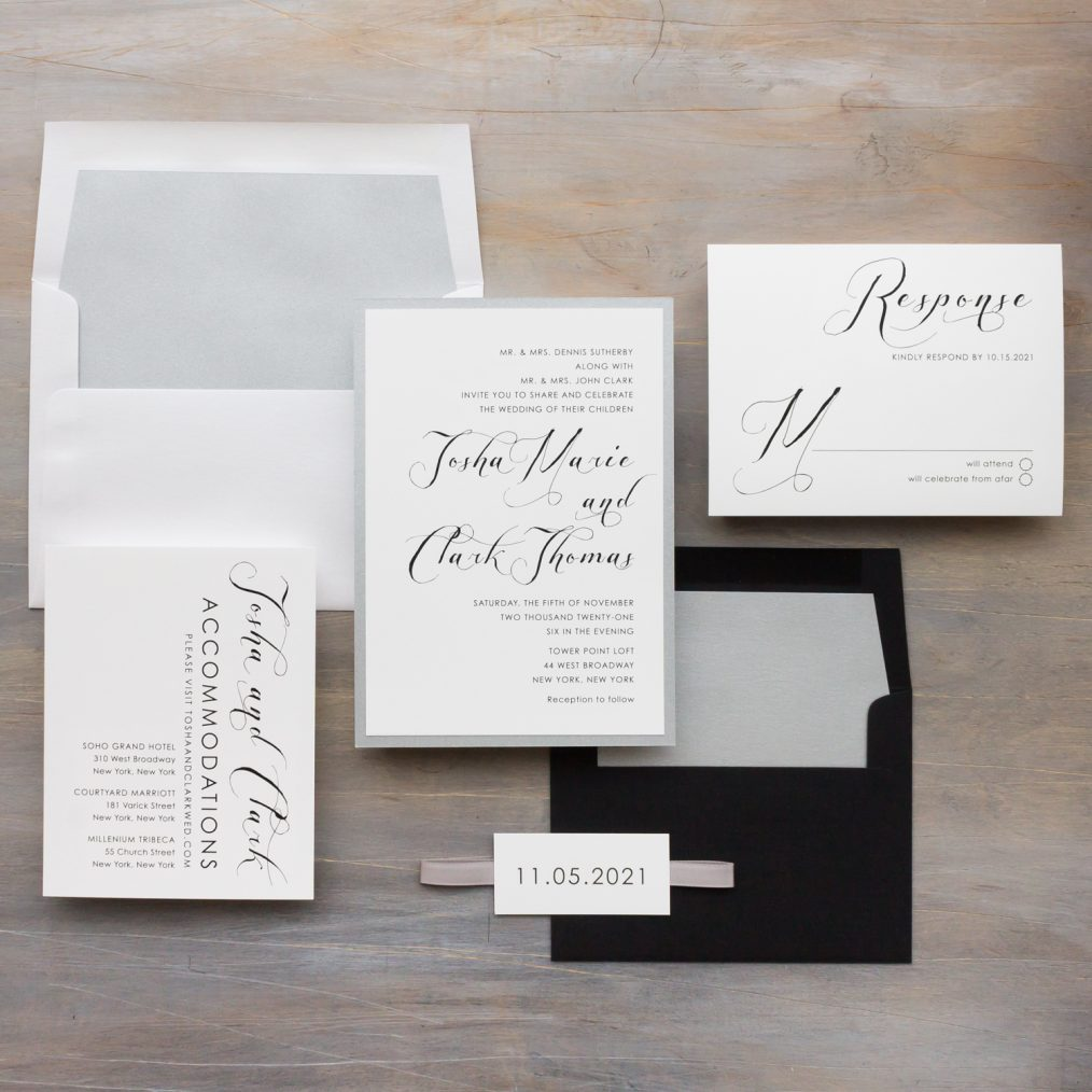 Black & White Wedding Invitations