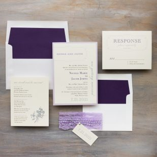 Purple Charmer Wedding Invitations