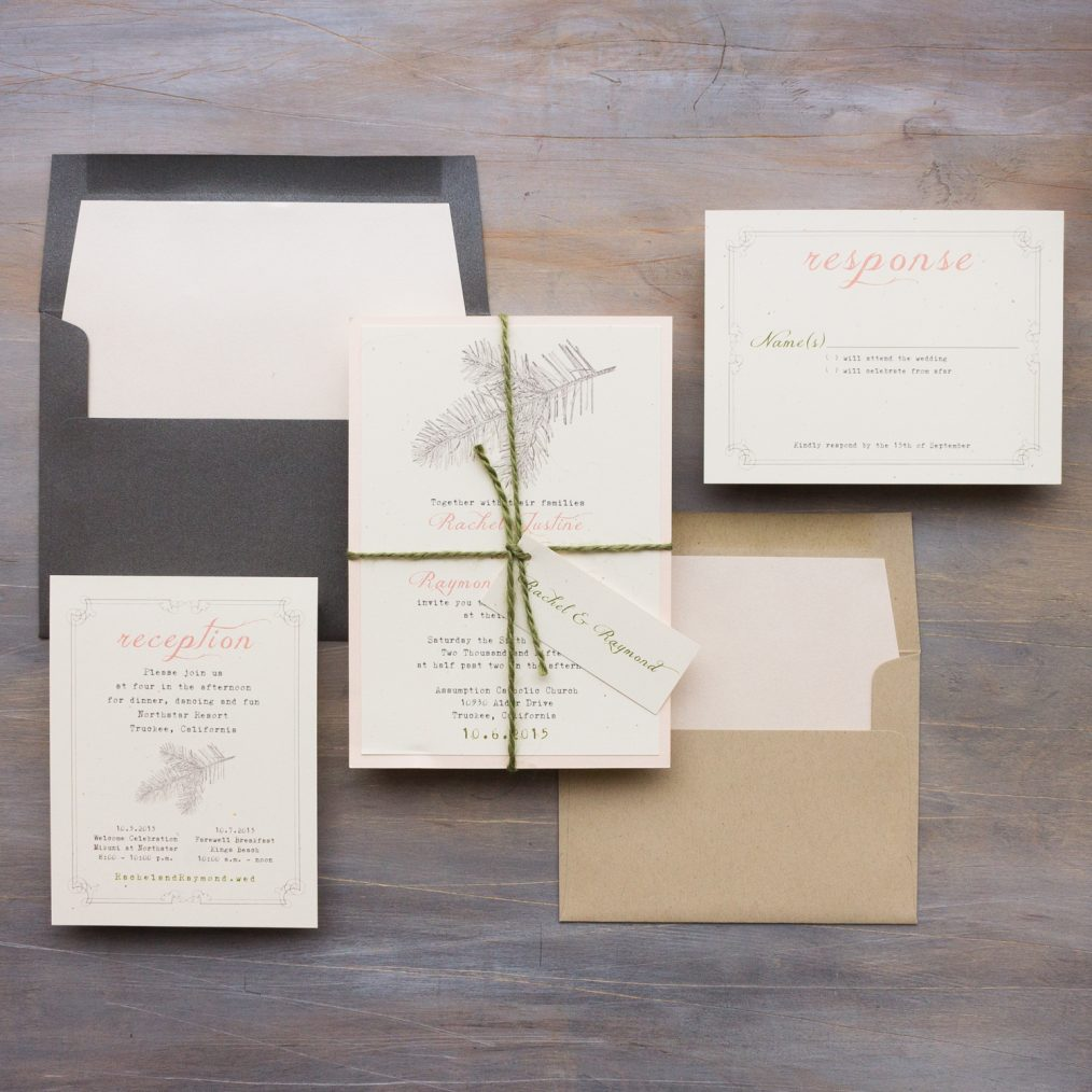 Rustic Woods Wedding Invitations