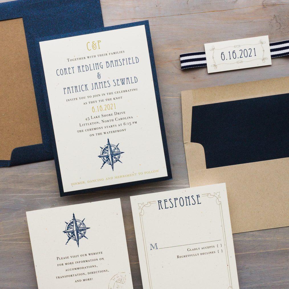 Nautical Themed Wedding Invitations