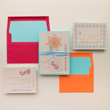 Rustic Henna Wedding Invitations