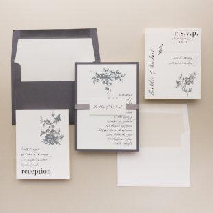 All White Wedding Invitations