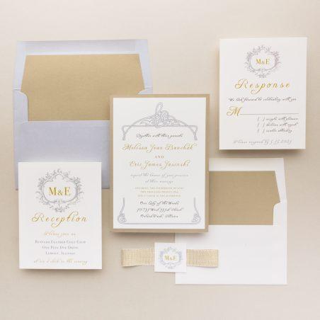 Gold & Silver Wedding Invitations