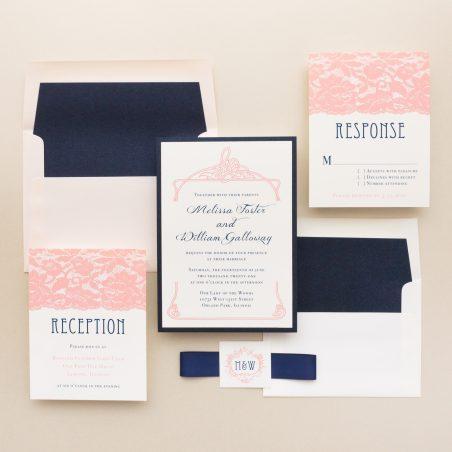 Blush Lace Wedding Invitations