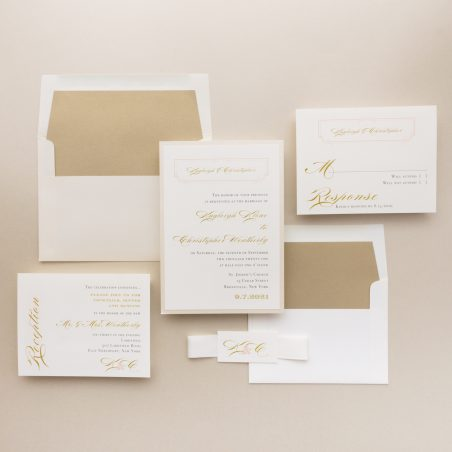 Classic Ivory Wedding Invitations