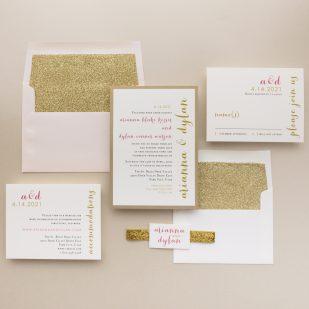 Gold & Glitter Wedding Invitations