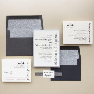 Silver & Glitter Wedding Invitations