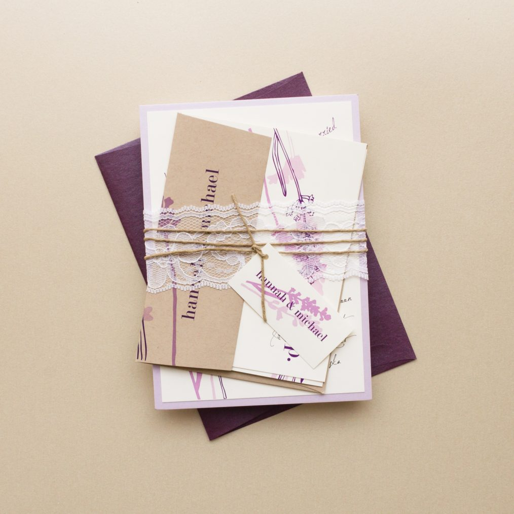 Lavender In Love Bundled Wedding Invitations