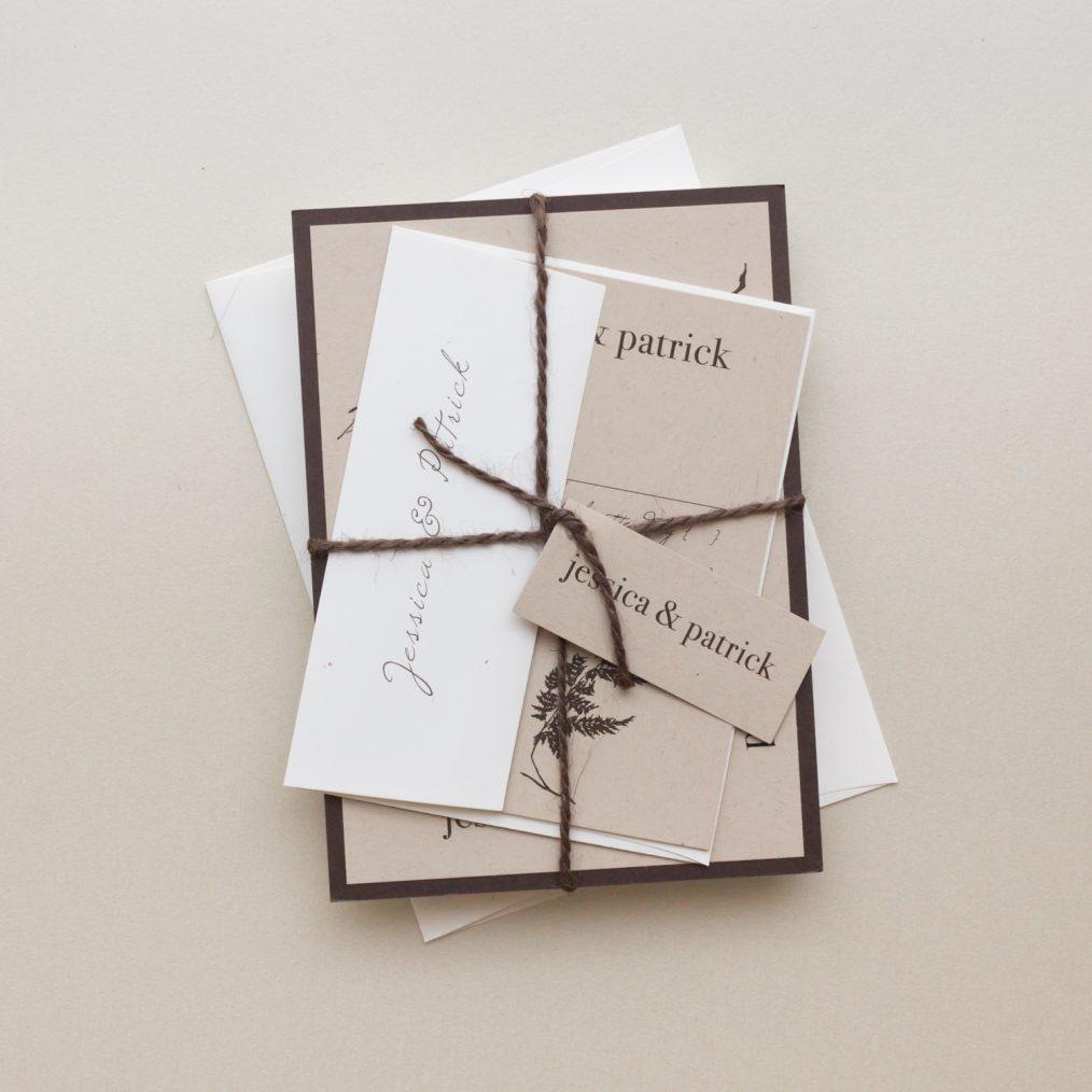 Brown Rustic wedding invitations