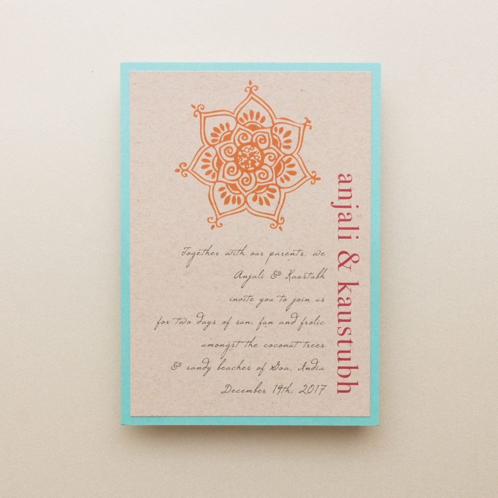 Rustic Henna Wedding Invitations
