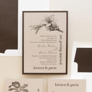 Rustic Magnolia Wedding Invitations
