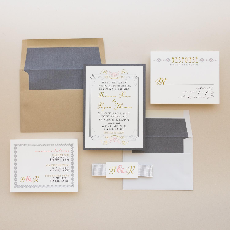Art Deco Wedding Invitations: Ivory Deco Wedding Invitations At Websimilar.org