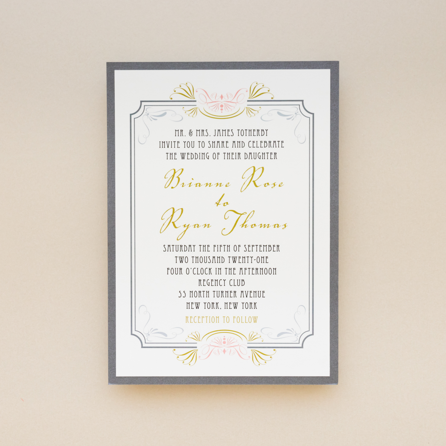 Art Deco Wedding Invitations.Art Deco Wedding Invitations Hollywood Gatsby Inspired Beacon Lane