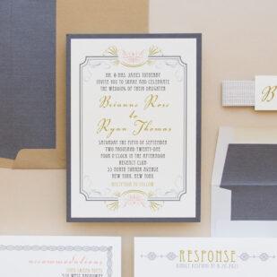 Art Deco Love Wedding Invitations