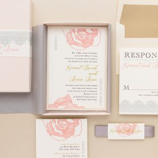 Ruffled Romance Wedding Invitations
