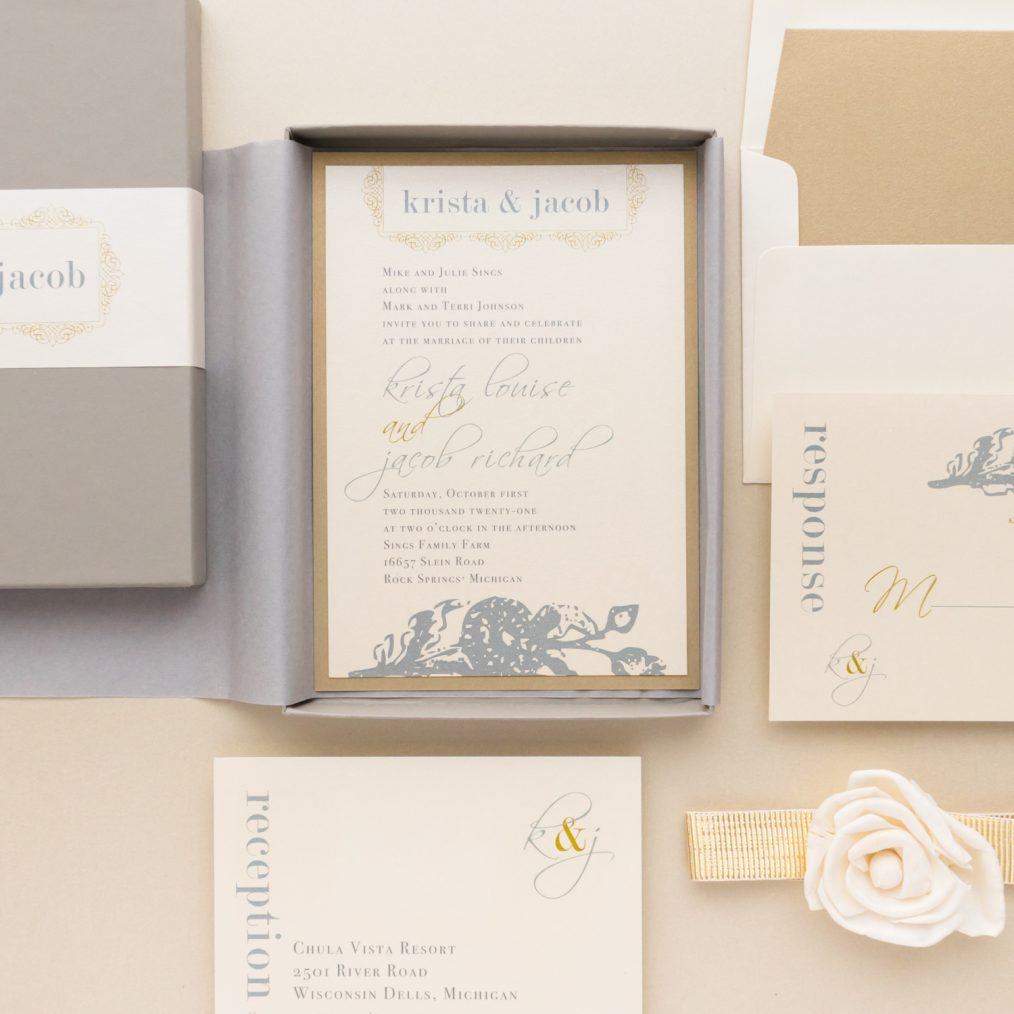 Modern Romance Wedding Invitations