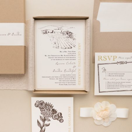 Farm Themed Wedding Invitations