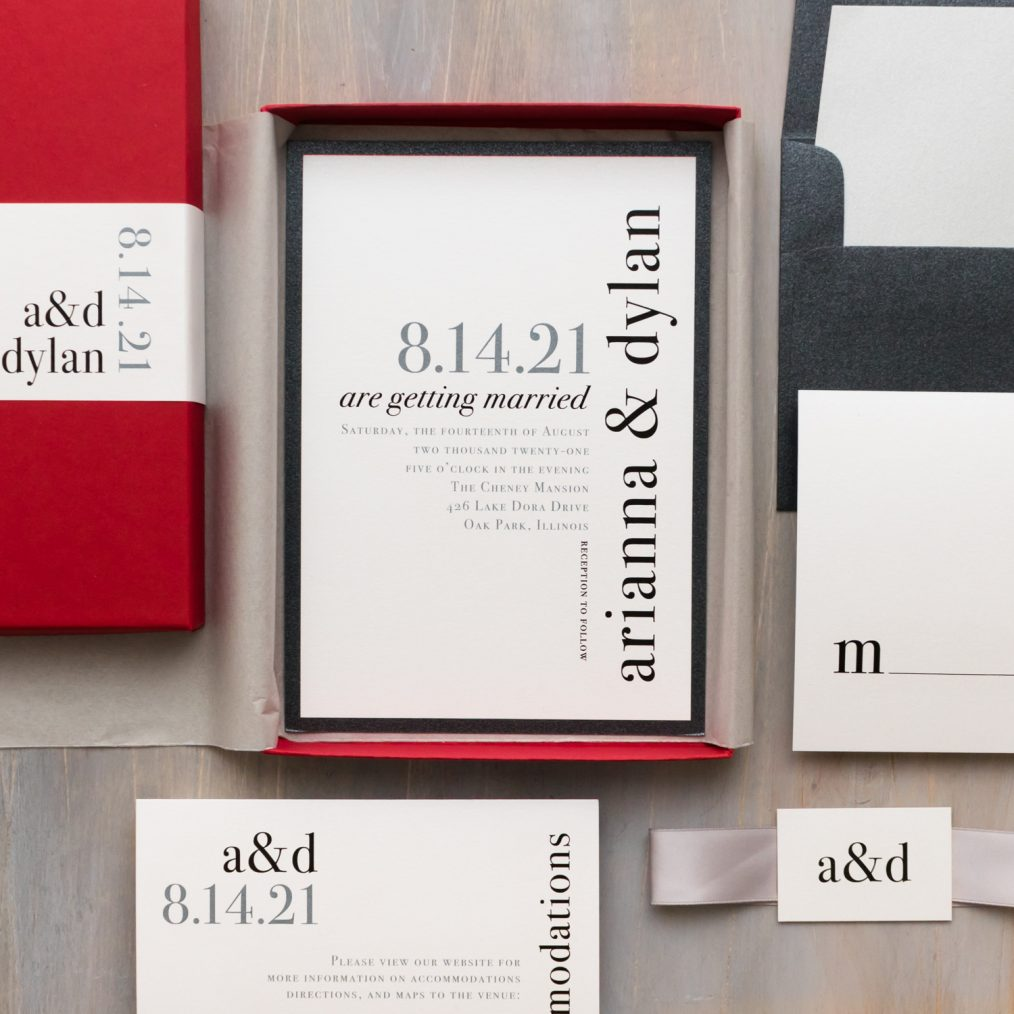 Minimal & Modern Urban Elegance Wedding Invitations