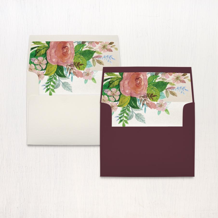 Mauve Floral Thank You Cards