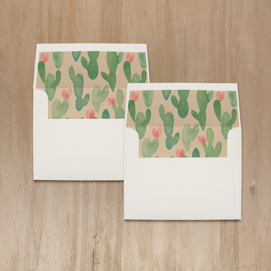 Mint Cactus Bridal Shower Thank You Cards