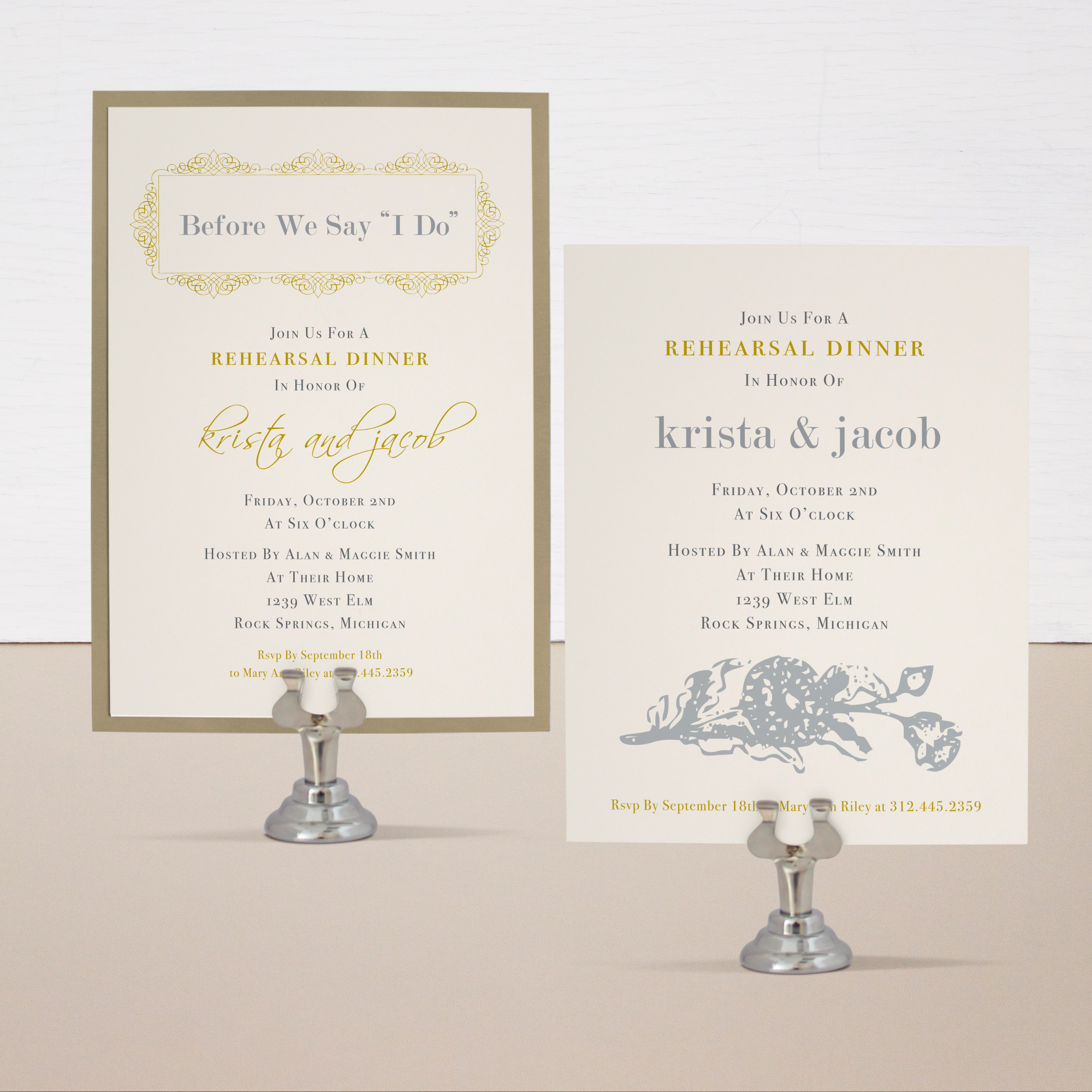 Modern Romance Customizable Vintage Wedding Invitations | Beacon Lane