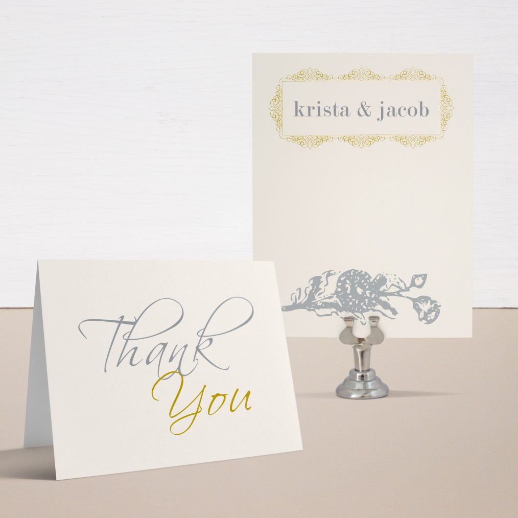 Modern Romance Thank You Cards