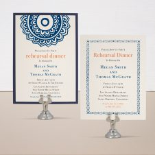 Navajo Navy Rehearsal Invitations