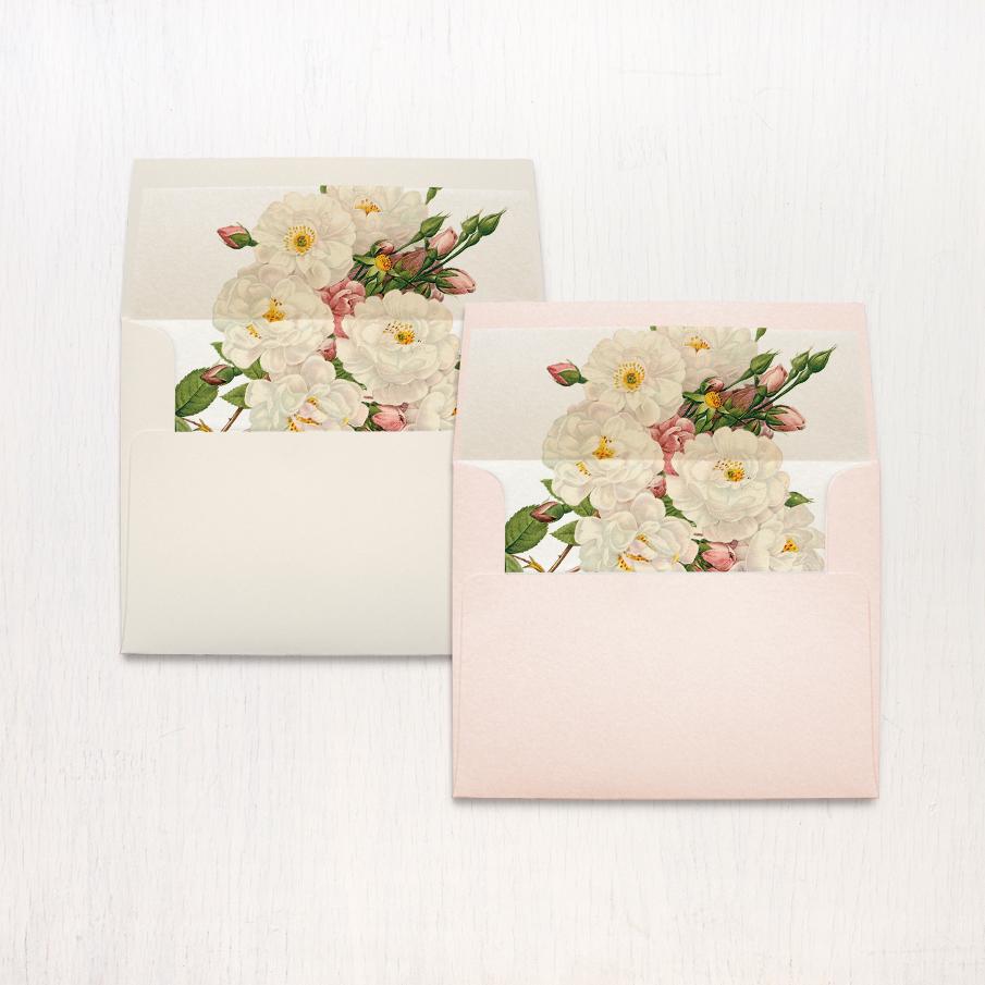 Navy Garden Rose Thank You Cards