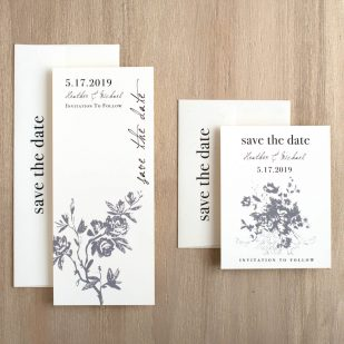 All White Save the Dates