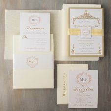 antiqueglitterboxedweddinginvitation