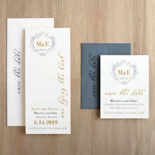 Antique Glitter Save the Dates
