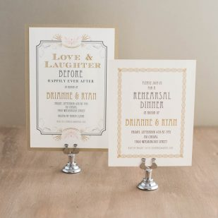 Art Deco Love Rehearsal Invitations