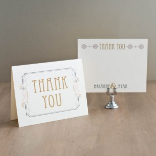 Art Deco Love Thank You Cards