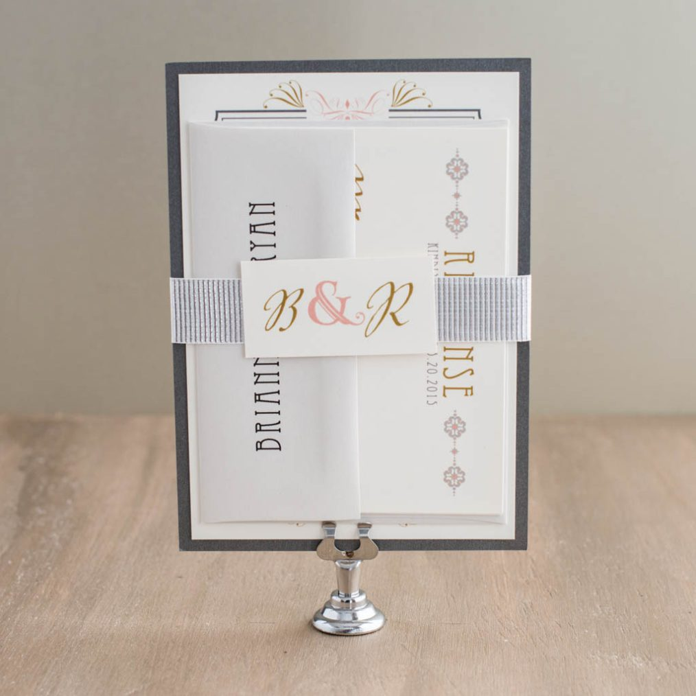 Art Deco Love Wedding Invitations