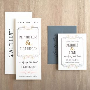 Art Deco Love Save the Dates