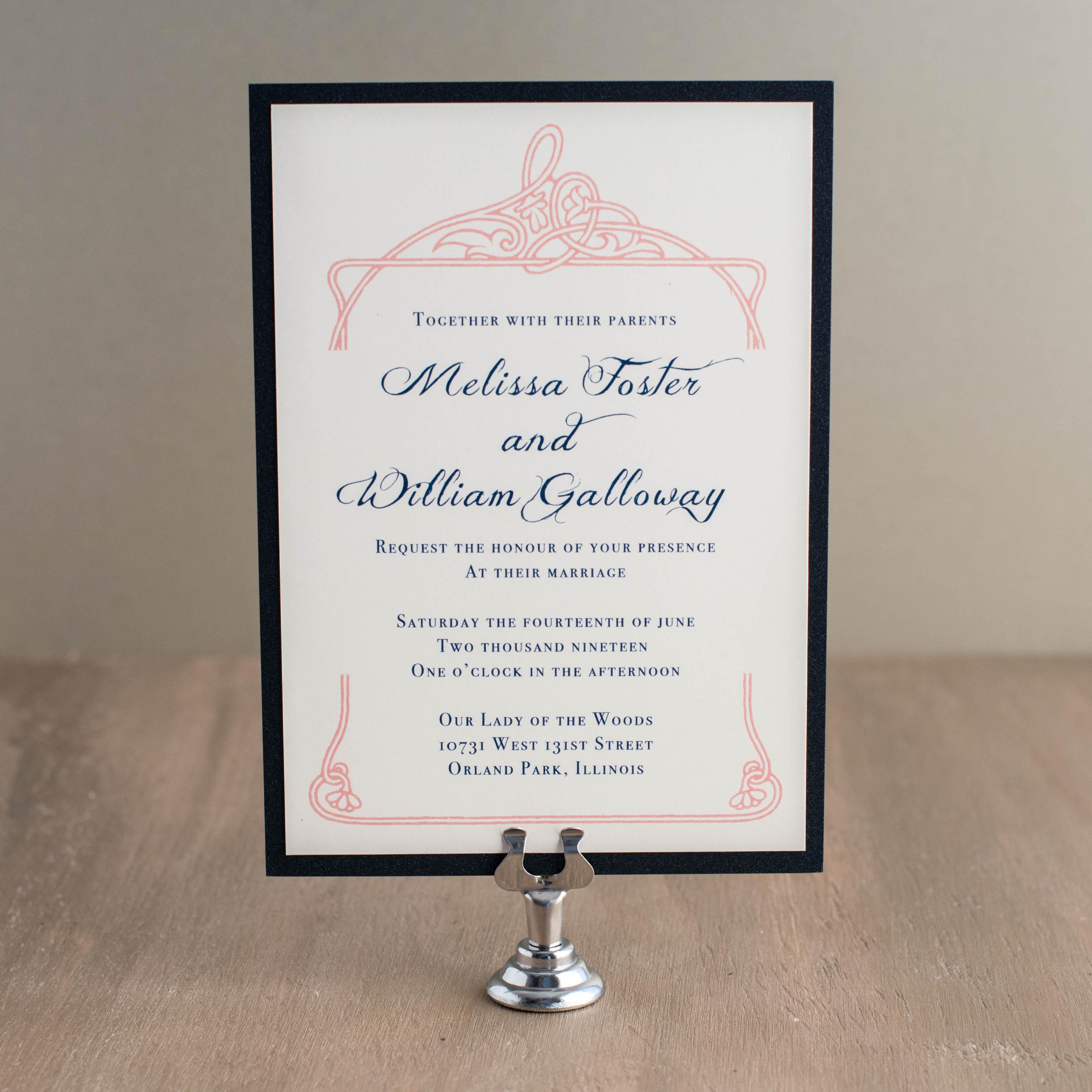 Deco & Lace Customizable Vintage Wedding Invitations   Beacon Lane
