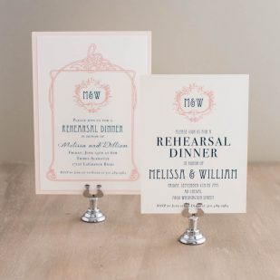 Deco & Lace Rehearsal Invitations