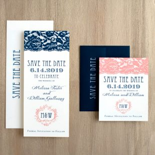Deco & Lace Save the Dates