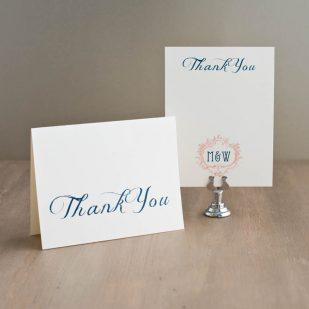 Deco & Lace Thank You Cards