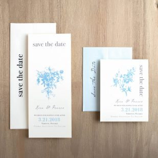 Elegant Blue Save the Dates