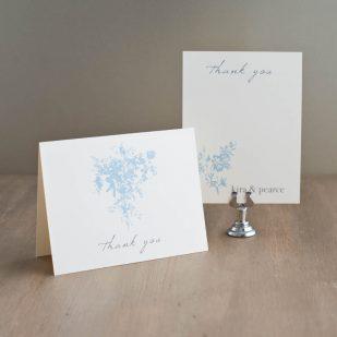 Elegant Blue Thank You Cards