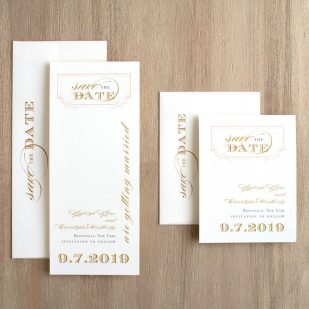 Elegant Ivory Save the Dates