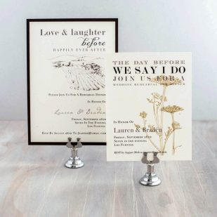 Farm Chic Rehearsal Invitations