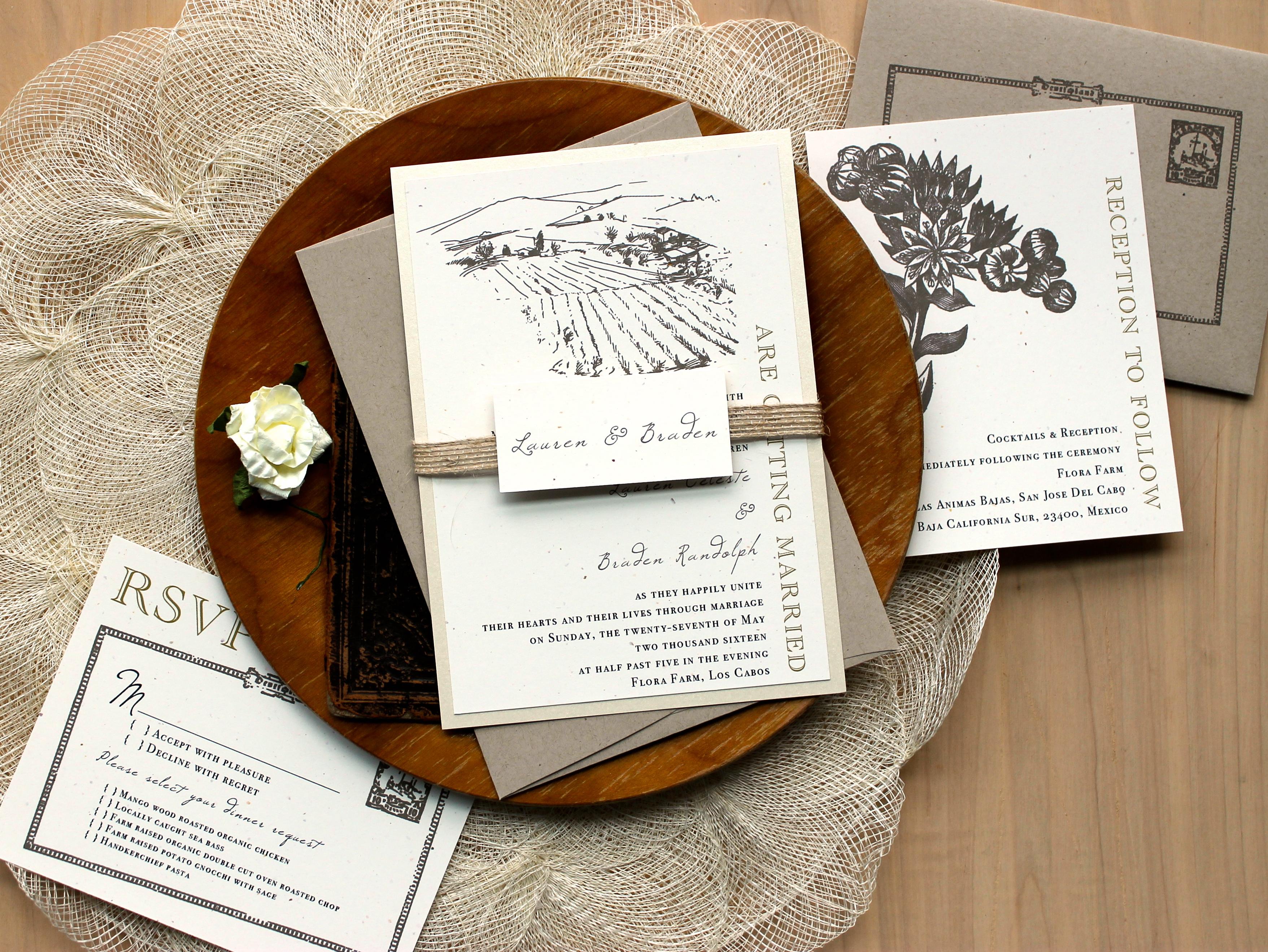Wedding Invitations Shops: Farm Chic Customizable Vintage Burlap Wedding Invitations